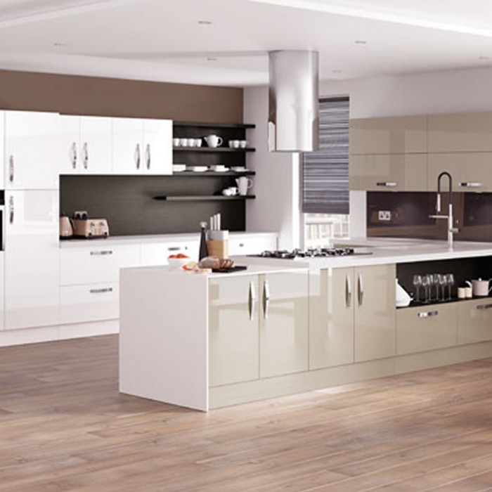Kitchen Designs - Astro Gloss: Dakar and White supplied by Superior Cabinets