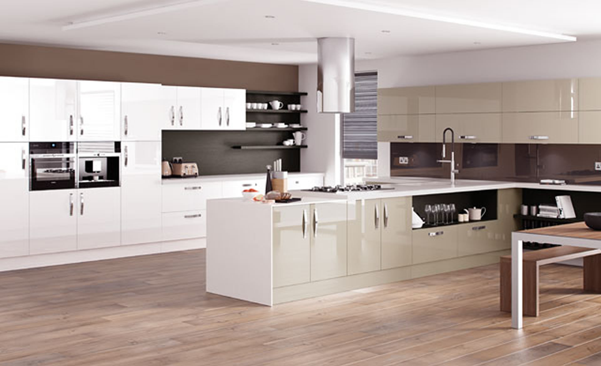 Kitchen Designs Astro Gloss Dakar And White