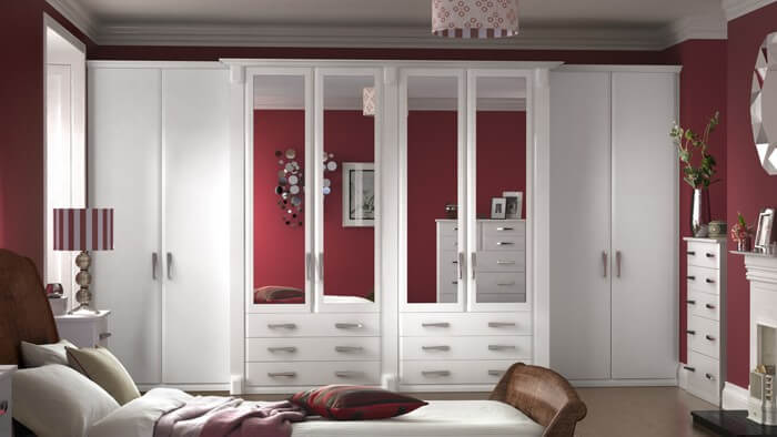 Bedroom Designs - Misano saw cut white supplied by Superior Cabinets