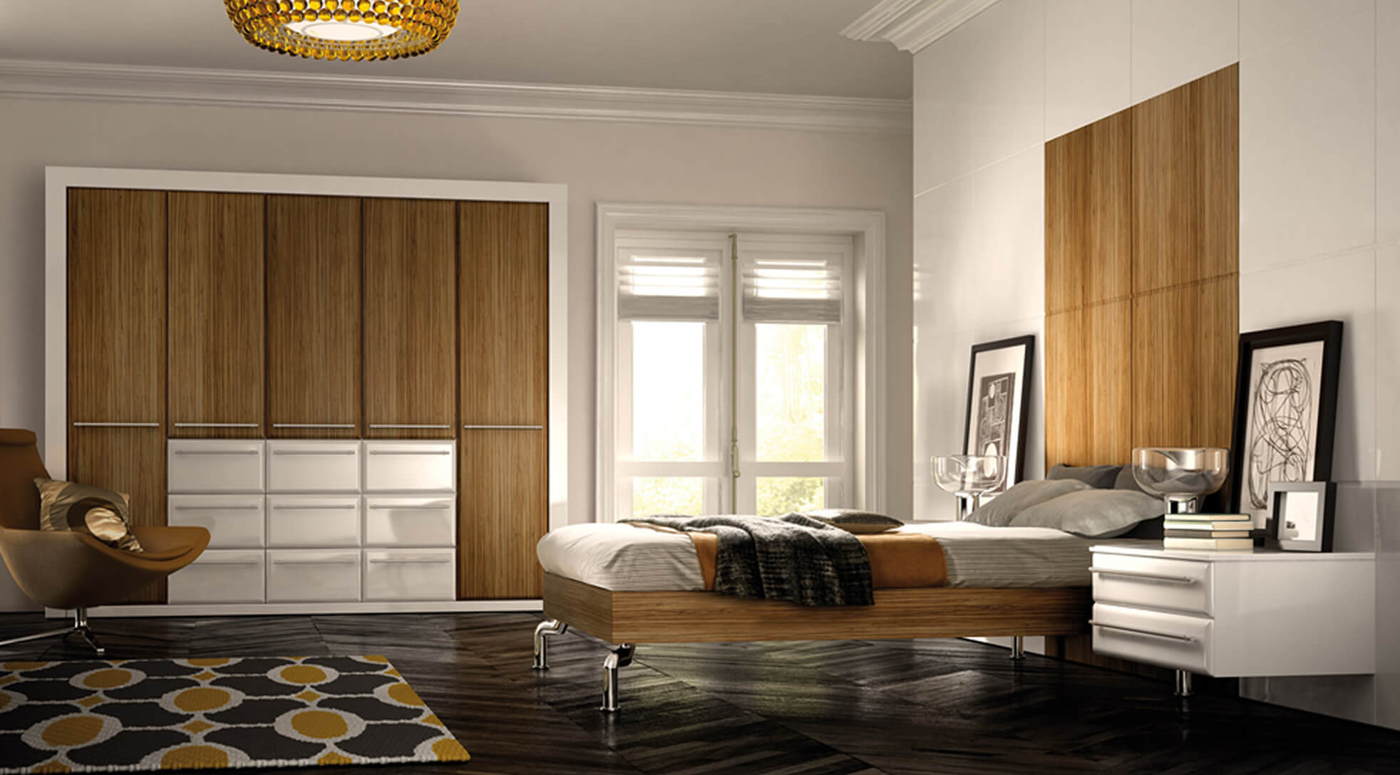 Bedroom Designs - Valencia sambesi & white gloss supplied by Superior Cabinets