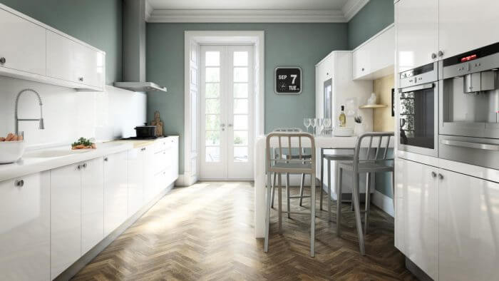 Avant White Avant White allows your kitchen to feel fresh and gives you a real sense of space due to the gloss effect.