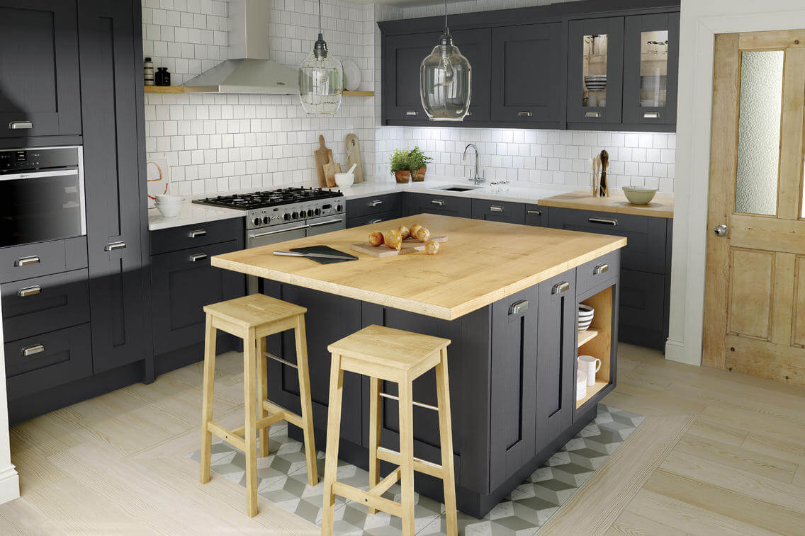 Kitchen designs milbourne charcoal superior cabinets for Charcoal painted kitchen cabinets