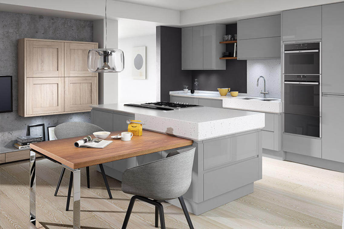 Remo kitchen with a calming silver grey finish